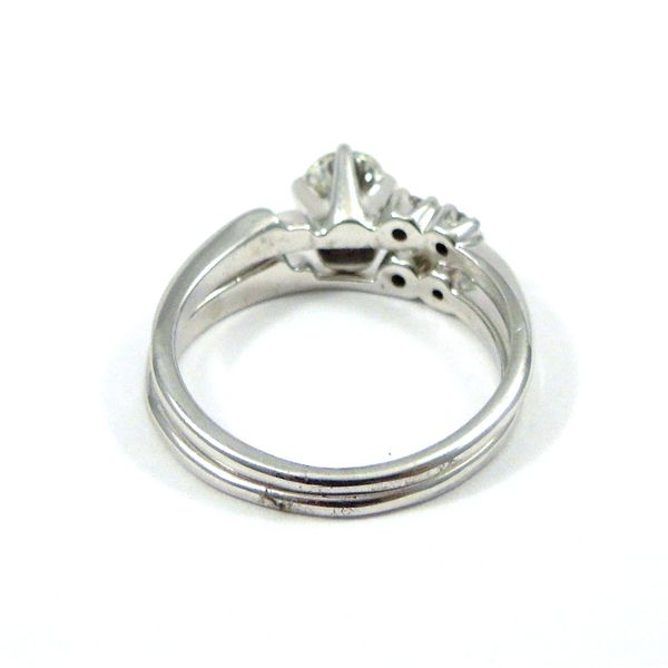 Diamond Engagement Ring with Matching Wedding Band Image 3 Joint Venture Jewelry Cary, NC