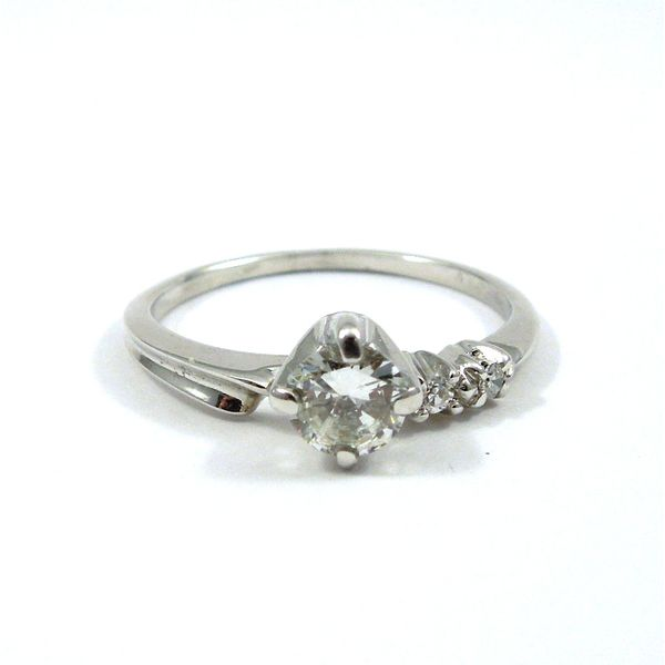Diamond Engagement Ring with Matching Wedding Band Image 4 Joint Venture Jewelry Cary, NC