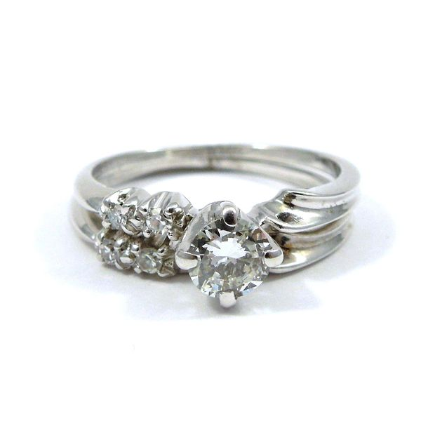 Diamond Engagement Ring with Matching Wedding Band Joint Venture Jewelry Cary, NC