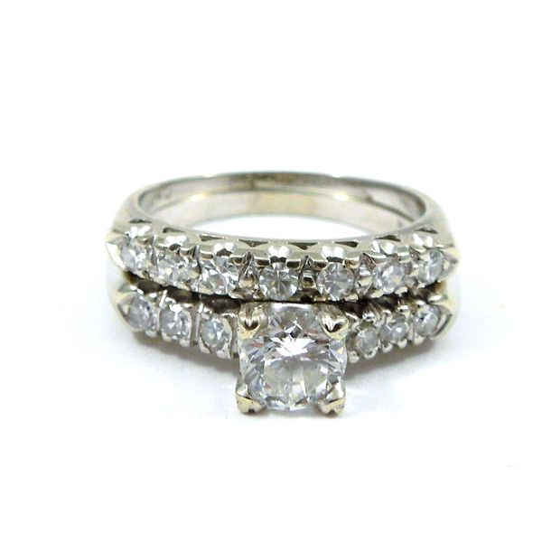 Diamond Engagement Ring & Band Set Joint Venture Jewelry Cary, NC