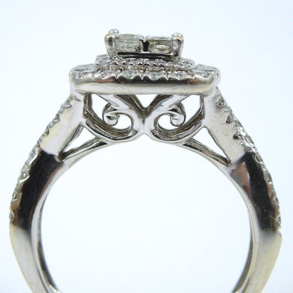Princess Cut Diamond Engagement Ring with Matching Wedding Band Image 2 Joint Venture Jewelry Cary, NC