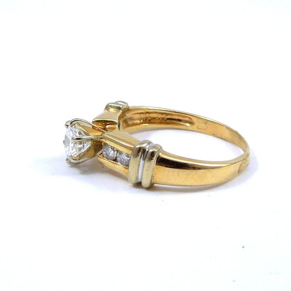 Yellow Gold Diamond Engagement Ring Image 2 Joint Venture Jewelry Cary, NC
