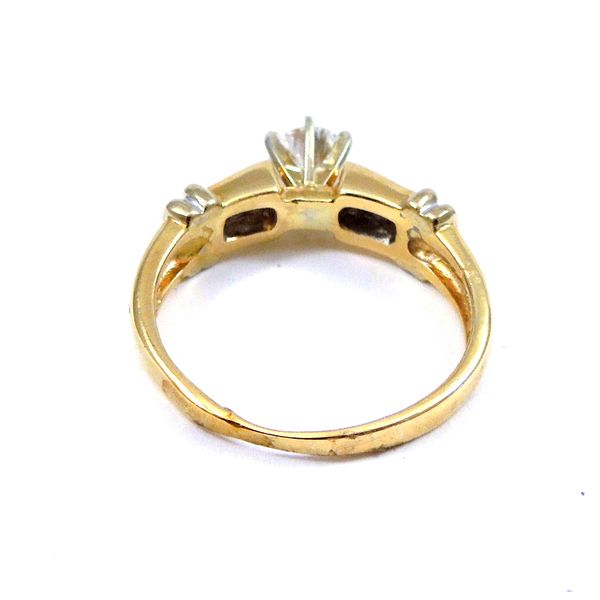 Yellow Gold Diamond Engagement Ring Image 3 Joint Venture Jewelry Cary, NC