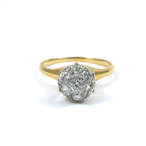 Yellow Gold Cluster Diamond Ring Joint Venture Jewelry Cary, NC