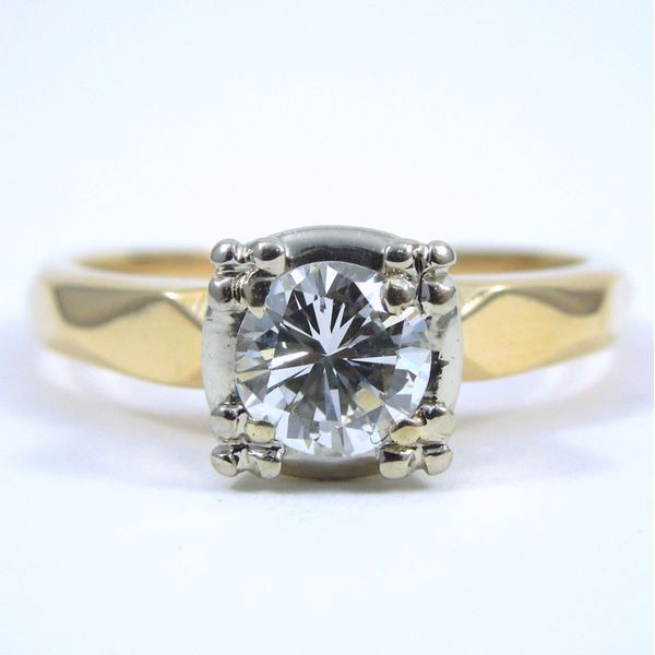 Diamond Engagement Right With Guard Bands Image 2 Joint Venture Jewelry Cary, NC