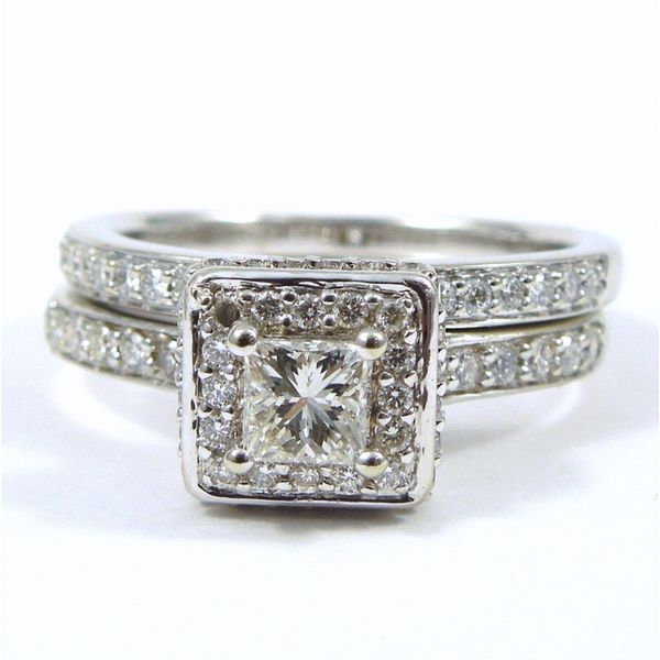 Princess Cut Diamond Engagement Ring Set Joint Venture Jewelry Cary, NC