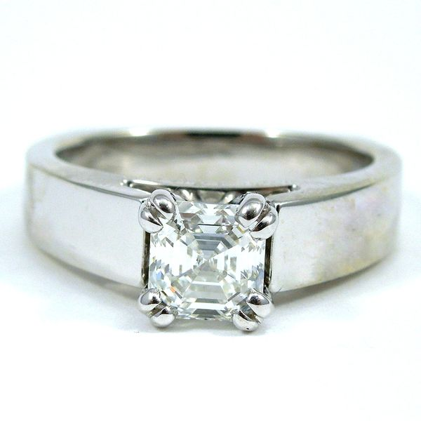 Asscher Cut Diamond Engagement Ring Joint Venture Jewelry Cary, NC