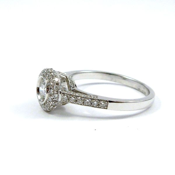 Bezel Set Diamond Engagement Ring Image 2 Joint Venture Jewelry Cary, NC