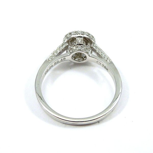 Bezel Set Diamond Engagement Ring Image 3 Joint Venture Jewelry Cary, NC