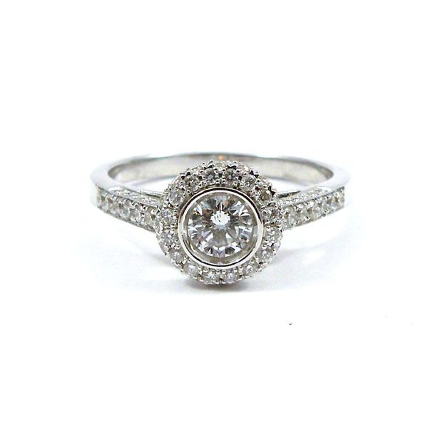 Bezel Set Diamond Engagement Ring Joint Venture Jewelry Cary, NC