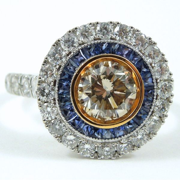 Champagne Diamond Engagement Ring Joint Venture Jewelry Cary, NC