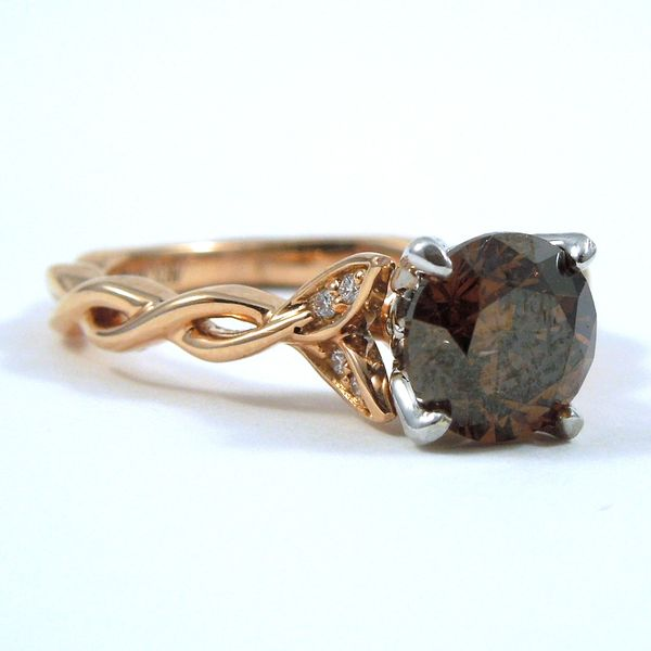Cognac Diamond Engagement Ring Image 2 Joint Venture Jewelry Cary, NC