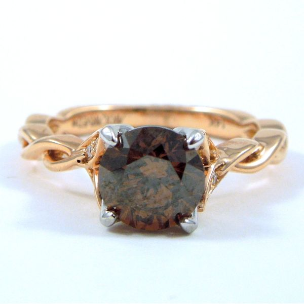 Cognac Diamond Engagement Ring Joint Venture Jewelry Cary, NC