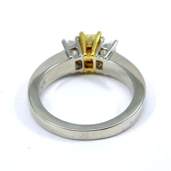 Fancy Radiant Cut Yellow Diamond Engagement Ring Image 3 Joint Venture Jewelry Cary, NC