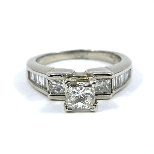 Three Stone Princess Cut Engagement Ring Joint Venture Jewelry Cary, NC