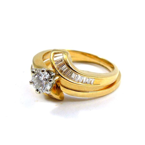 Bypass Style Diamond Engagement Ring Set Image 2 Joint Venture Jewelry Cary, NC