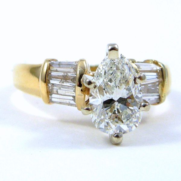 Pear Cut Diamond Engagement Ring Joint Venture Jewelry Cary, NC