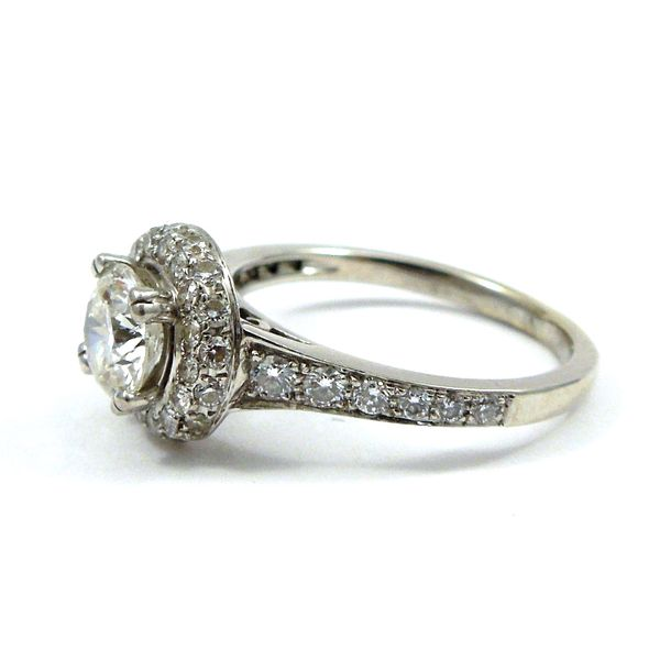 Halo Style Diamond Engagement Ring Image 2 Joint Venture Jewelry Cary, NC