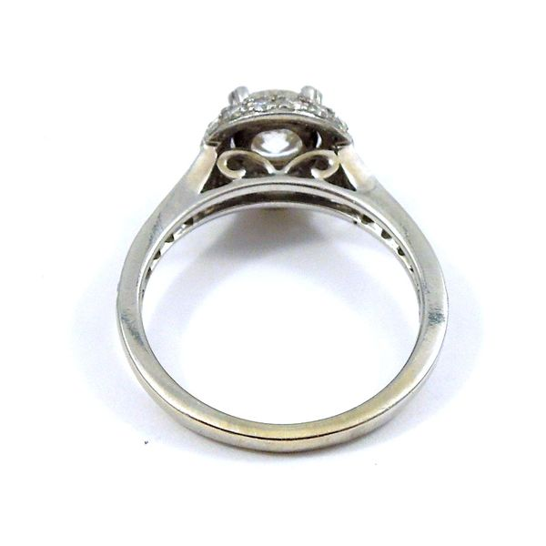Halo Style Diamond Engagement Ring Image 3 Joint Venture Jewelry Cary, NC