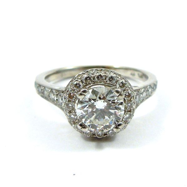 Halo Style Diamond Engagement Ring Joint Venture Jewelry Cary, NC