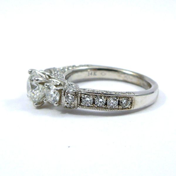 Hearts & Arrow Cut Diamond Engagement Ring Image 2 Joint Venture Jewelry Cary, NC