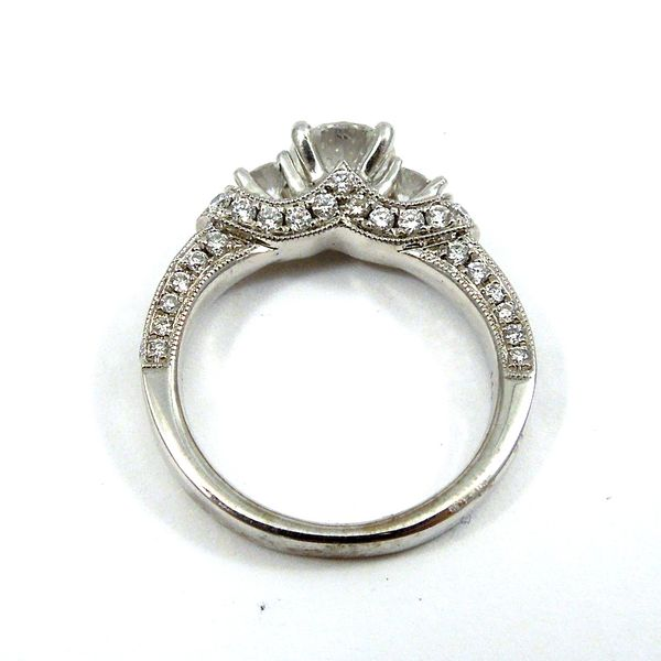 Hearts & Arrow Cut Diamond Engagement Ring Image 3 Joint Venture Jewelry Cary, NC