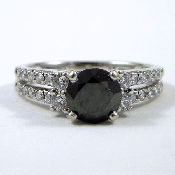 Black Diamond Engagement Ring Set Image 2 Joint Venture Jewelry Cary, NC