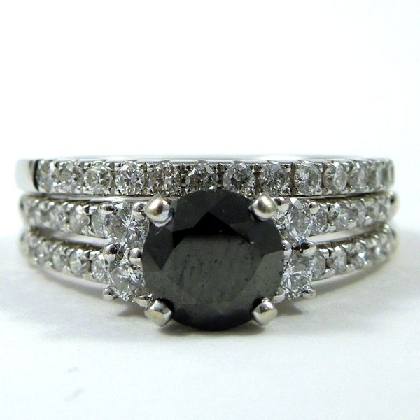 Black Diamond Engagement Ring Set Joint Venture Jewelry Cary, NC