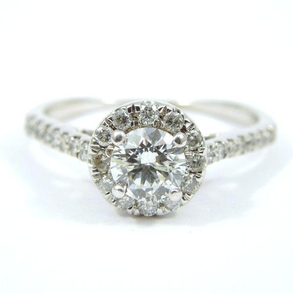 Diamond Halo Engagement Ring Set Image 2 Joint Venture Jewelry Cary, NC