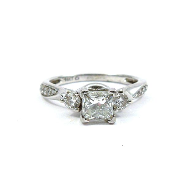 Modified Brilliant Diamond Engagement Ring Joint Venture Jewelry Cary, NC