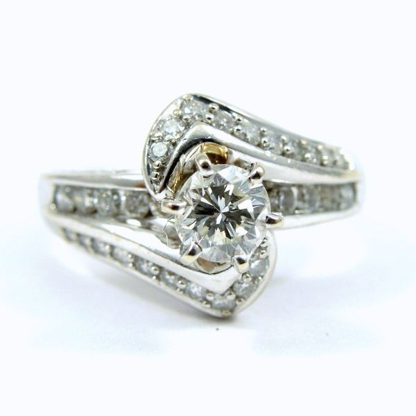 Bypass Style Engagement Ring Joint Venture Jewelry Cary, NC