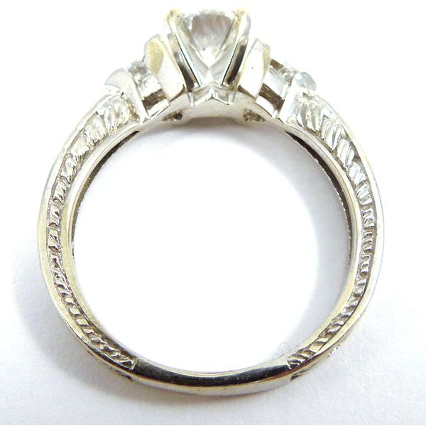 Three Stone Diamond Engagement Ring Image 2 Joint Venture Jewelry Cary, NC