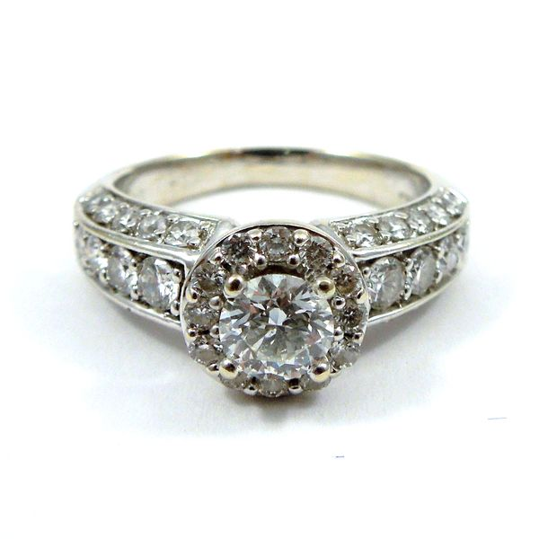 Halo Diamond Engagement Ring Image 3 Joint Venture Jewelry Cary, NC