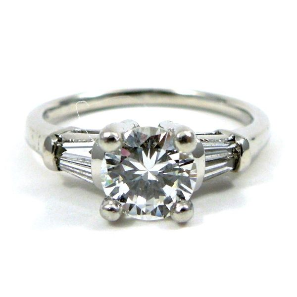 Diamond Engagement Ring with Band Image 2 Joint Venture Jewelry Cary, NC