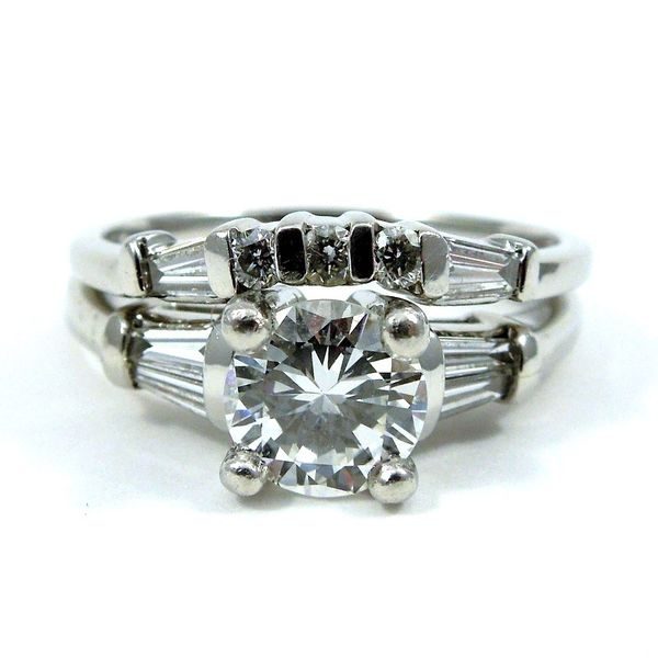Diamond Engagement Ring with Band Joint Venture Jewelry Cary, NC