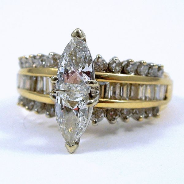 Marquoise Cut Diamond Engagement Ring Joint Venture Jewelry Cary, NC