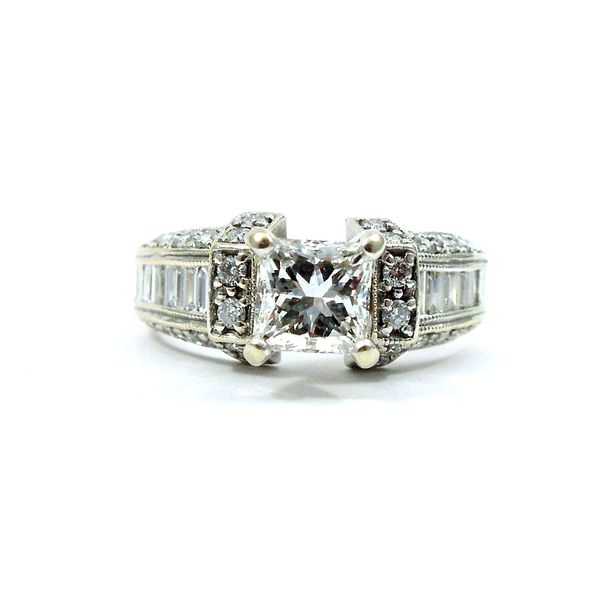 Modified Square Cut Diamond Engagement Ring Joint Venture Jewelry Cary, NC