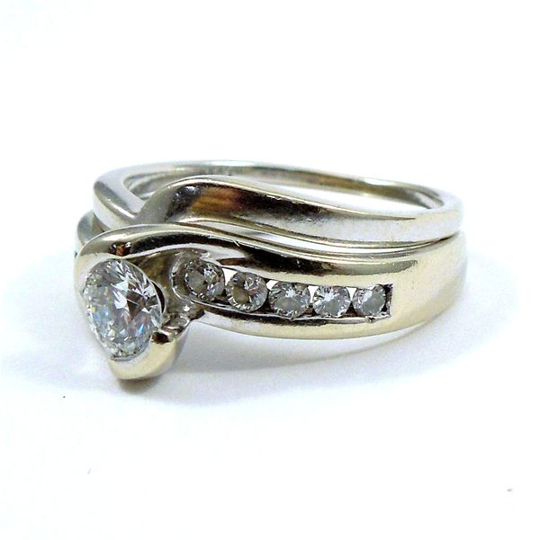 Diamond Bypass Engagement Ring Set Image 2 Joint Venture Jewelry Cary, NC