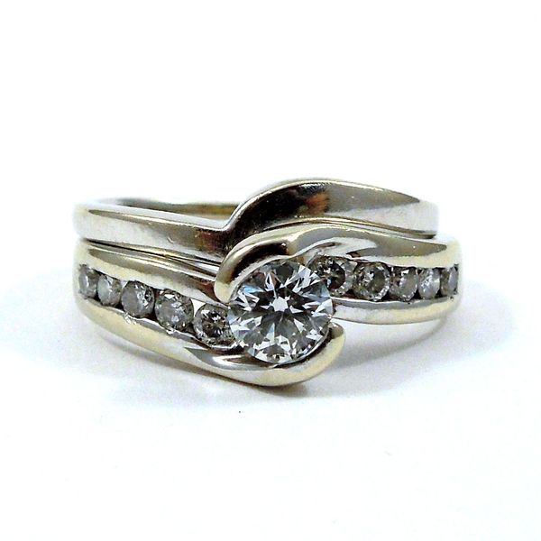 Diamond Bypass Engagement Ring Set Joint Venture Jewelry Cary, NC