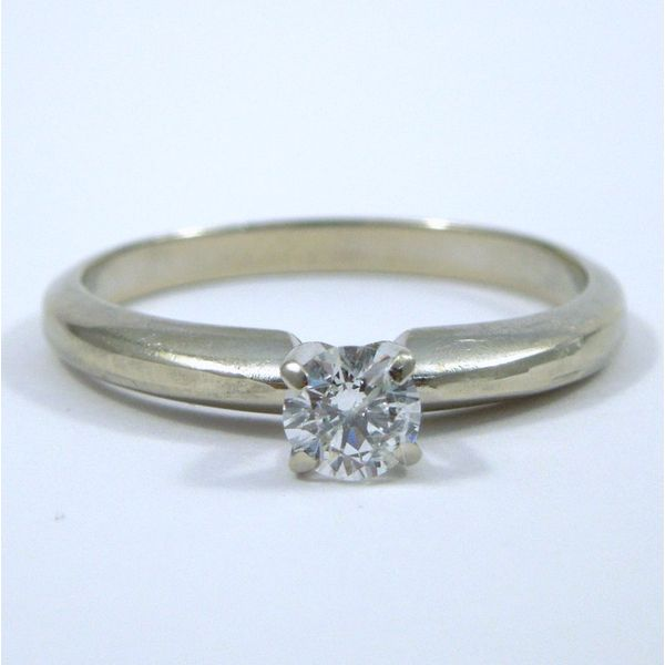 Diamond Engagement Ring with Wrap Wedding Band Image 2 Joint Venture Jewelry Cary, NC