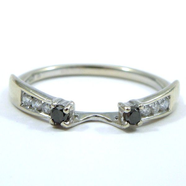 Diamond Engagement Ring with Wrap Wedding Band Image 3 Joint Venture Jewelry Cary, NC