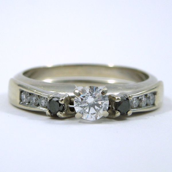 Diamond Engagement Ring with Wrap Wedding Band Joint Venture Jewelry Cary, NC