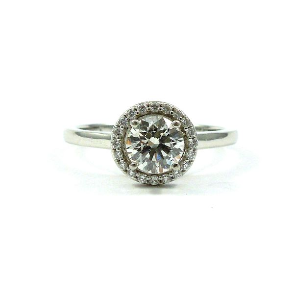 Halo Diamond Engagement Ring Joint Venture Jewelry Cary, NC