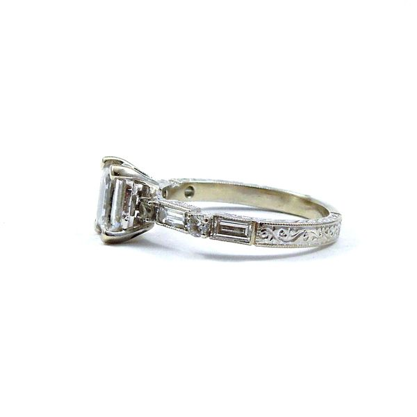 Emerald Cut Diamond Engagement Ring Image 2 Joint Venture Jewelry Cary, NC