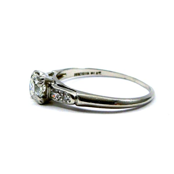 Squared Diamond Engagement Ring Image 2 Joint Venture Jewelry Cary, NC