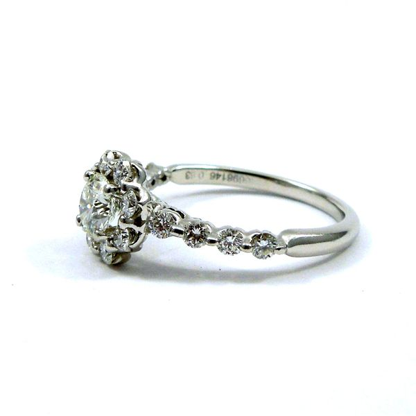 Halo Diamond Engagement Ring Image 2 Joint Venture Jewelry Cary, NC