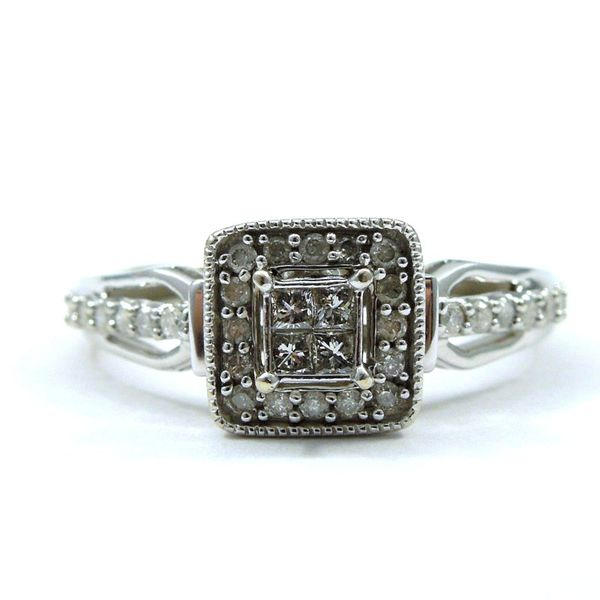 Invisibly Set Halo Diamond Engagement Ring Joint Venture Jewelry Cary, NC
