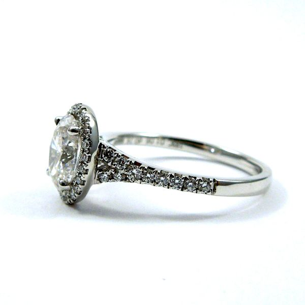 Oval Halo Diamond Engagement Ring Image 2 Joint Venture Jewelry Cary, NC