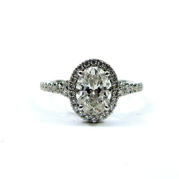 Oval Halo Diamond Engagement Ring Joint Venture Jewelry Cary, NC