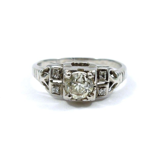 Mine Cut Vintage Diamond Engagement Ring Joint Venture Jewelry Cary, NC
